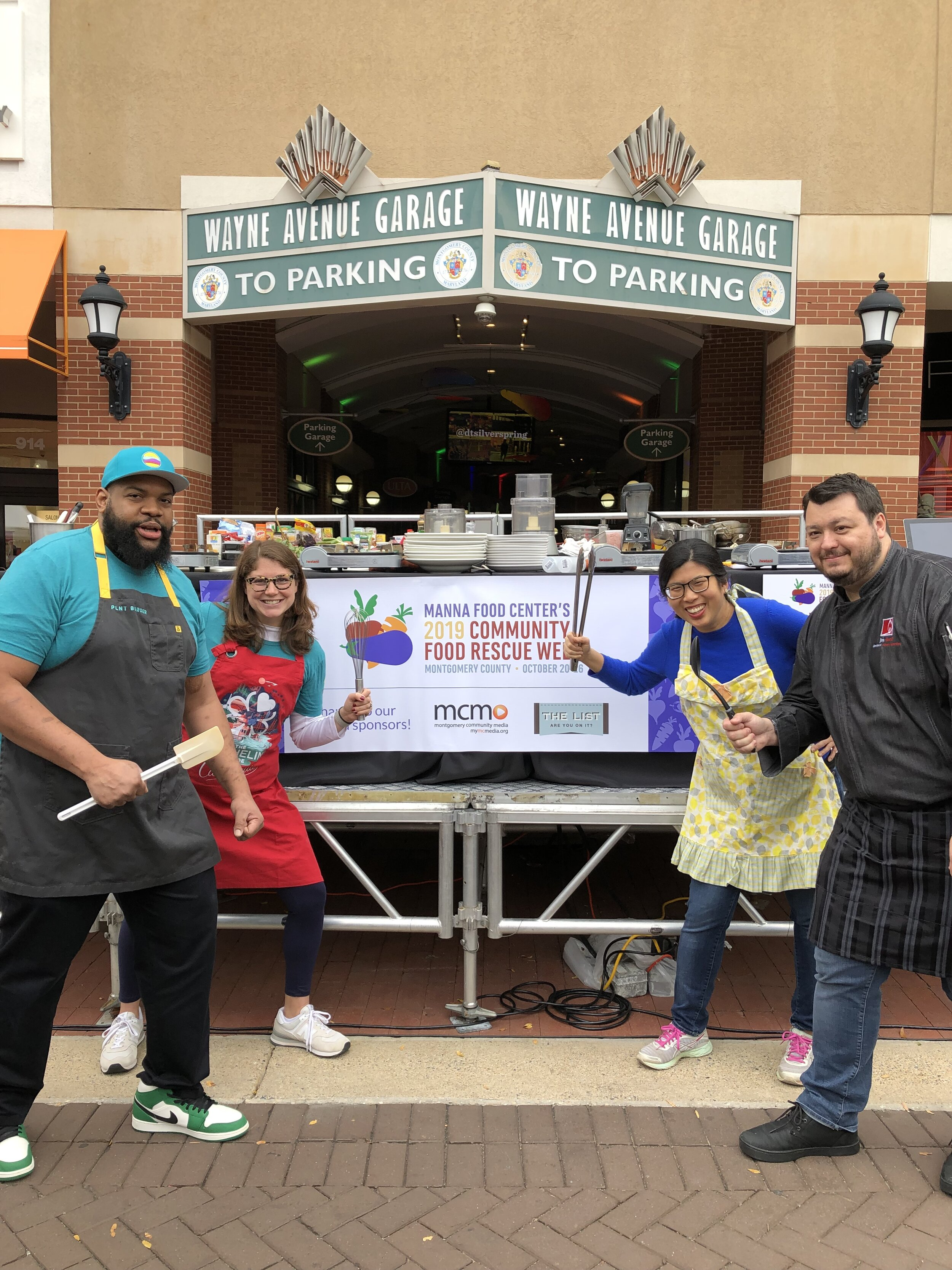 Contestants Chef Bryan Lacayo, Kyley McGeeney, Linda Wang and Jim Drost faced off at the No Waste Big Taste competition.