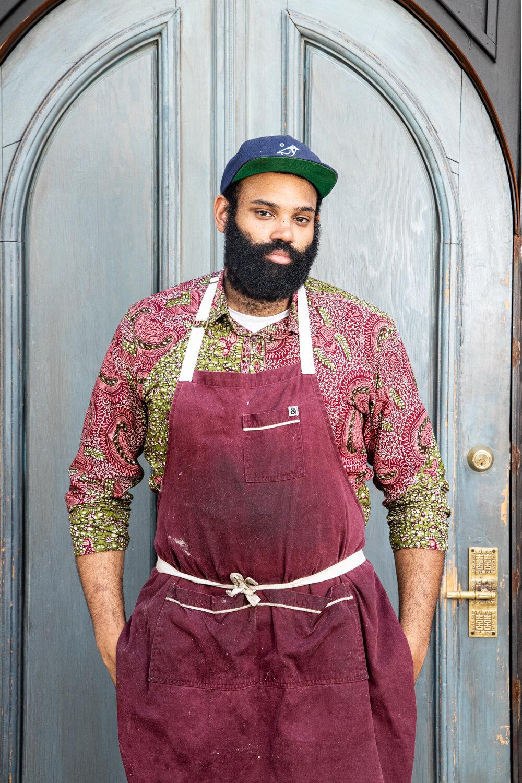 Chef Christophe Kambou, Maydan's sous chef.