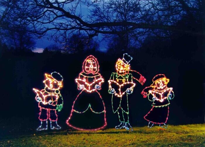 A brilliant drive-through display of holiday lights can be found at Sandy Point State Park starting in late November.