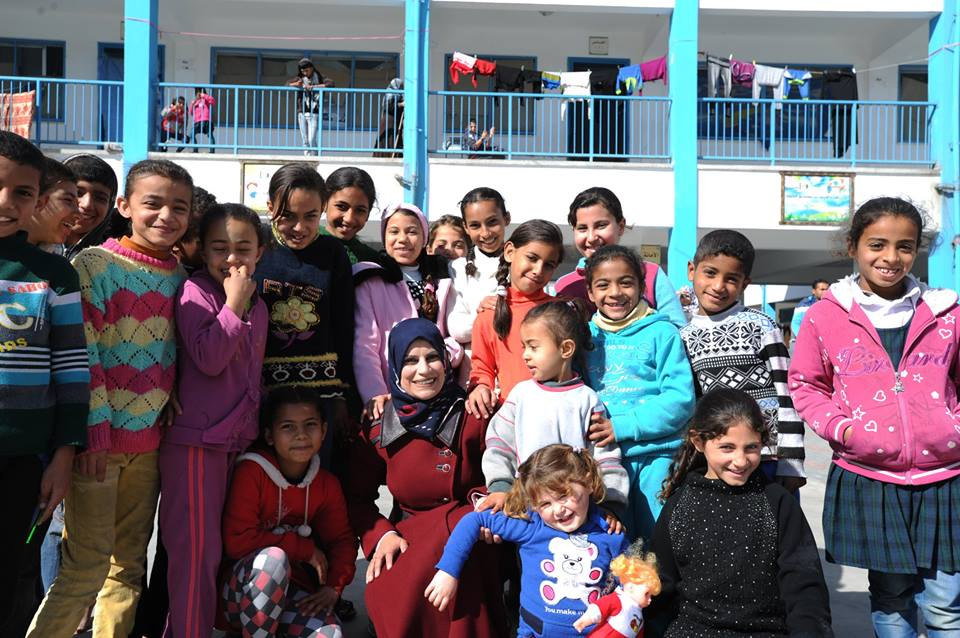 """""""I am like any other displaced person. My house was damaged by shelling. When I was running, I could only think of one thing: that I had to go to the collective center because I had to help the people who were running with me."""" Susan al-Dabba, UNRWA Collective Center Manager, March 2015"""