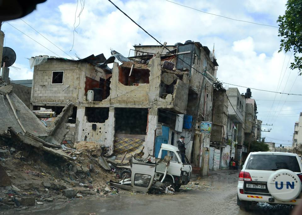 The extensive destruction in Gaza may be hard to comprehend for those outside of the Strip, but the reality faced by Palestinians on the ground is one where funding pledged for reconstruction has not come through. Less than 1% of the construction materials needed to rebuild from last year's assault has gotten through, and only homes with minor damages have been repaired. That leaves hundreds of thousands of totally destroyed homes, and Palestine refugees grappling with this crisis on their own.   Read more about the displacement of Palestine refugees in Gaza:  http://gaza.ochaopt.org/2015/07/internal-displacement-in-the-context-of-the-2014-hostilities/