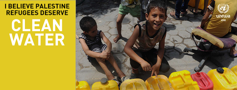 Only 10% of the population of the Gaza Strip has access to clean water. Learn more at unrwausa.org