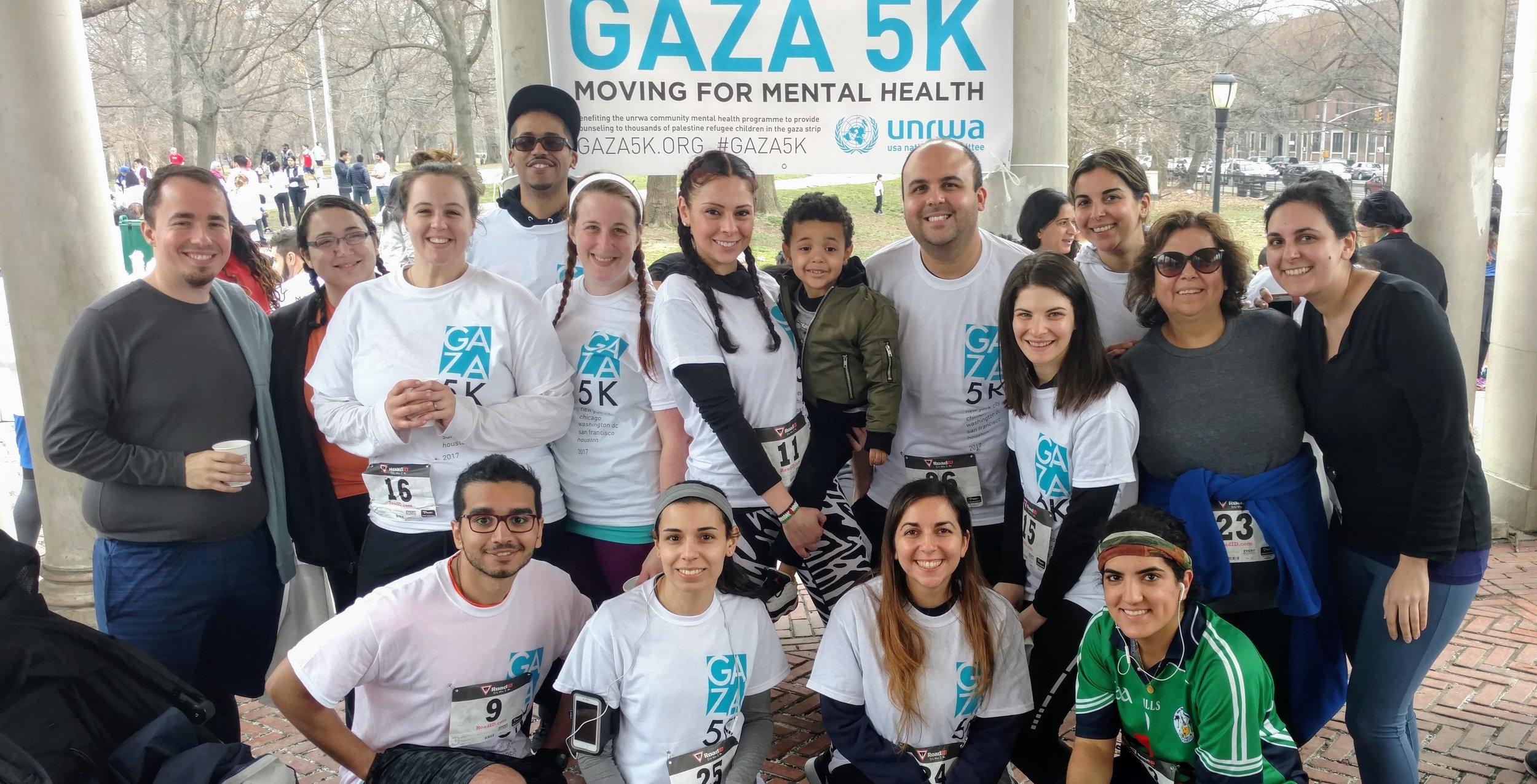 Members of Team Olive Gaza (in no particular order):Khalid (captain), Yasmin, Dalia, Fatena, Dina
