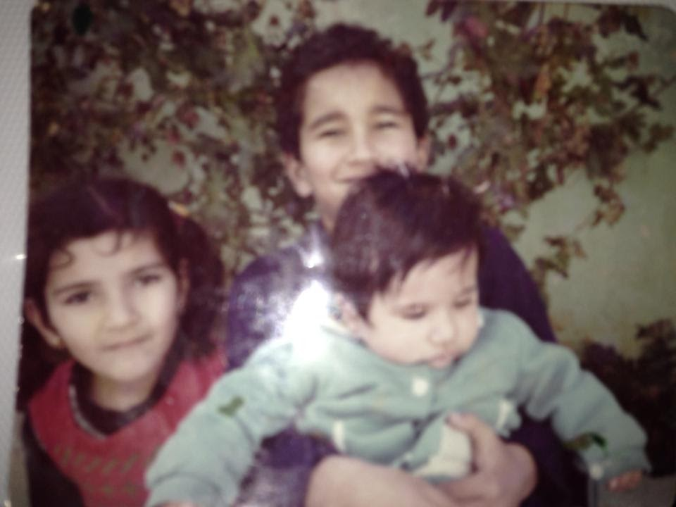 Shadi, his sister Rana, and brother Fadi, Jordan