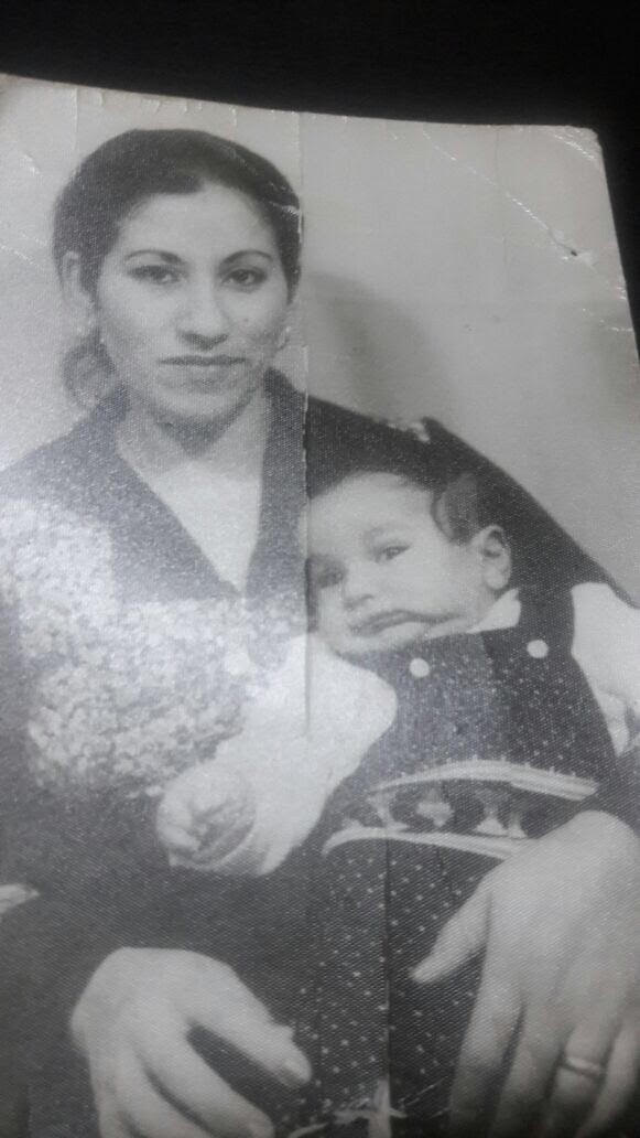 Shadi with his mother, Lebanon, 1978-9