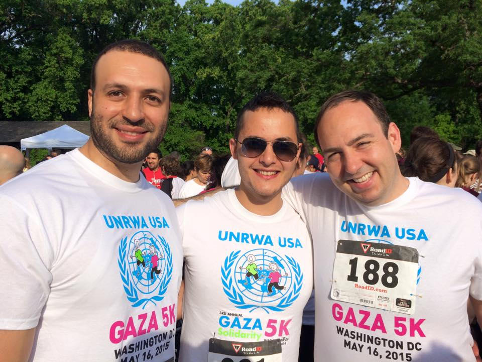 Justin (right) at the 2015 DC Gaza 5K
