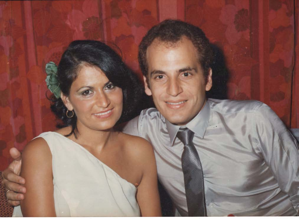 Nada and Nazih on their 5th anniversary, 1980