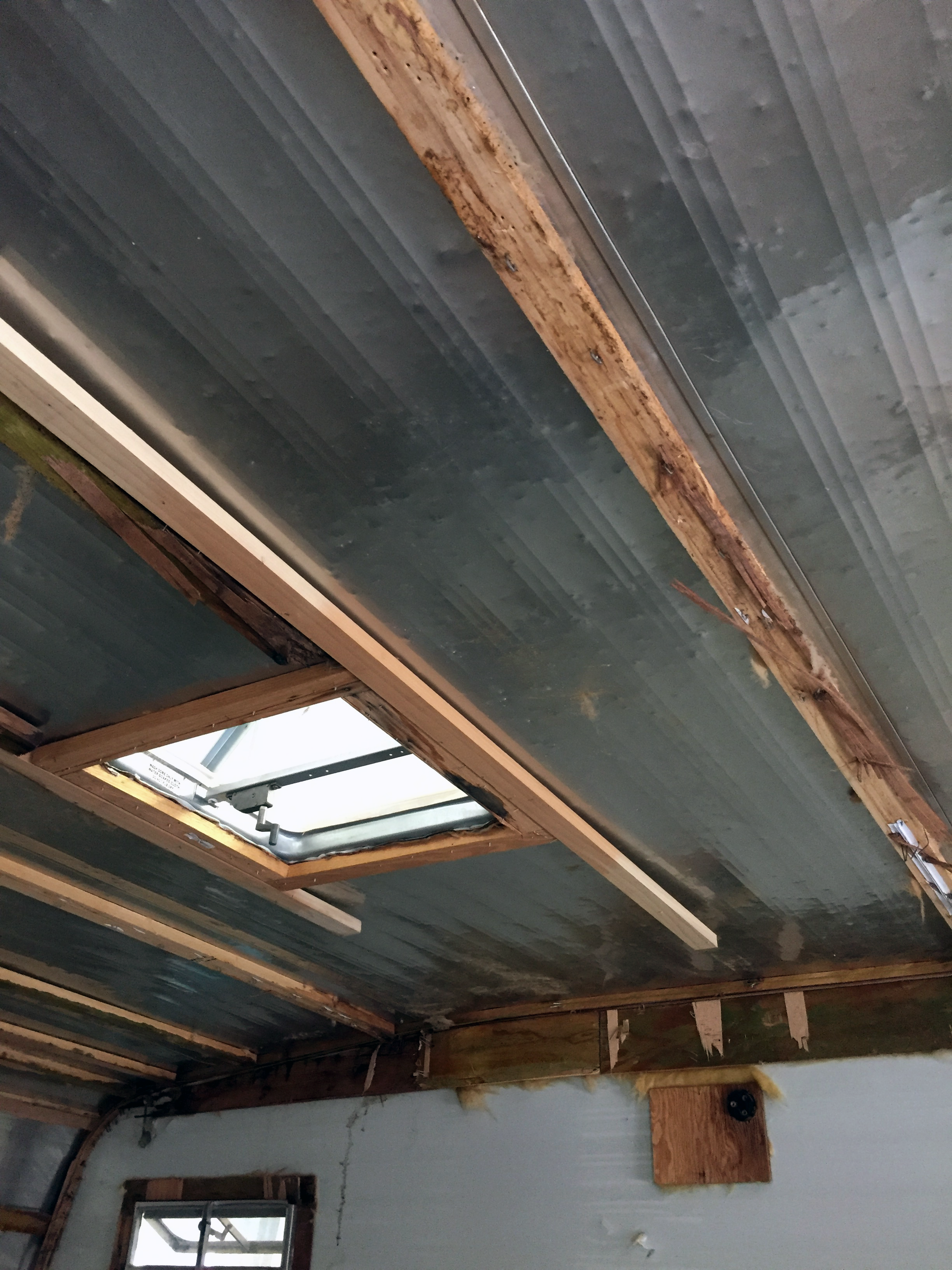Post-demo —ceiling