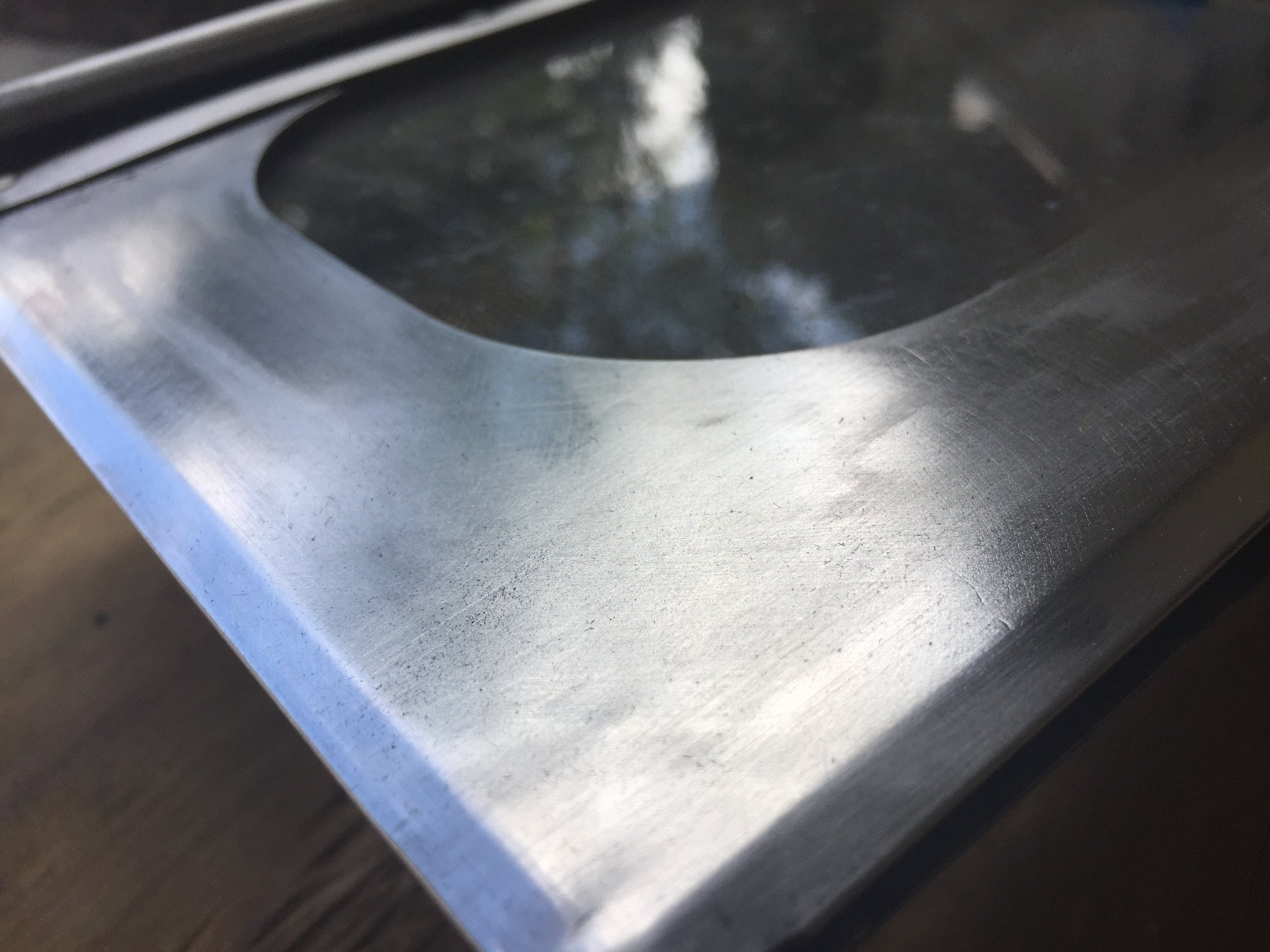 After hand polishing with steel wool