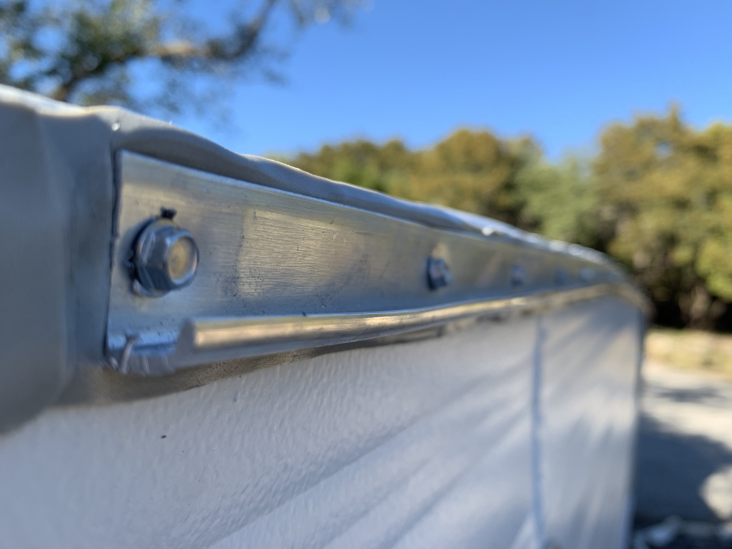 """Properly installed J rail will make the letter """"J"""" or """"L"""" when viewed from the side."""