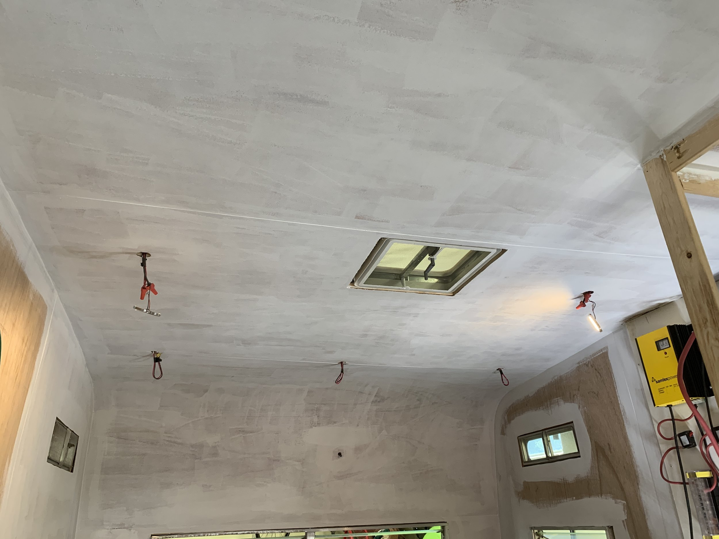 The Cameo Camper Renovation Insulating Installing Walls Ceiling Lone Oak Design Co