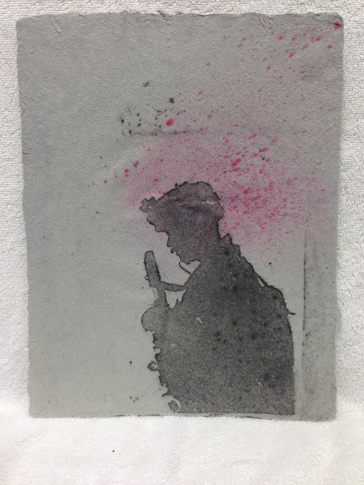 Anonymous _Untitled_ 2012 Pulp Spray on Handmade paper from military uniforms 11 x 14  IMG_0982.jpg