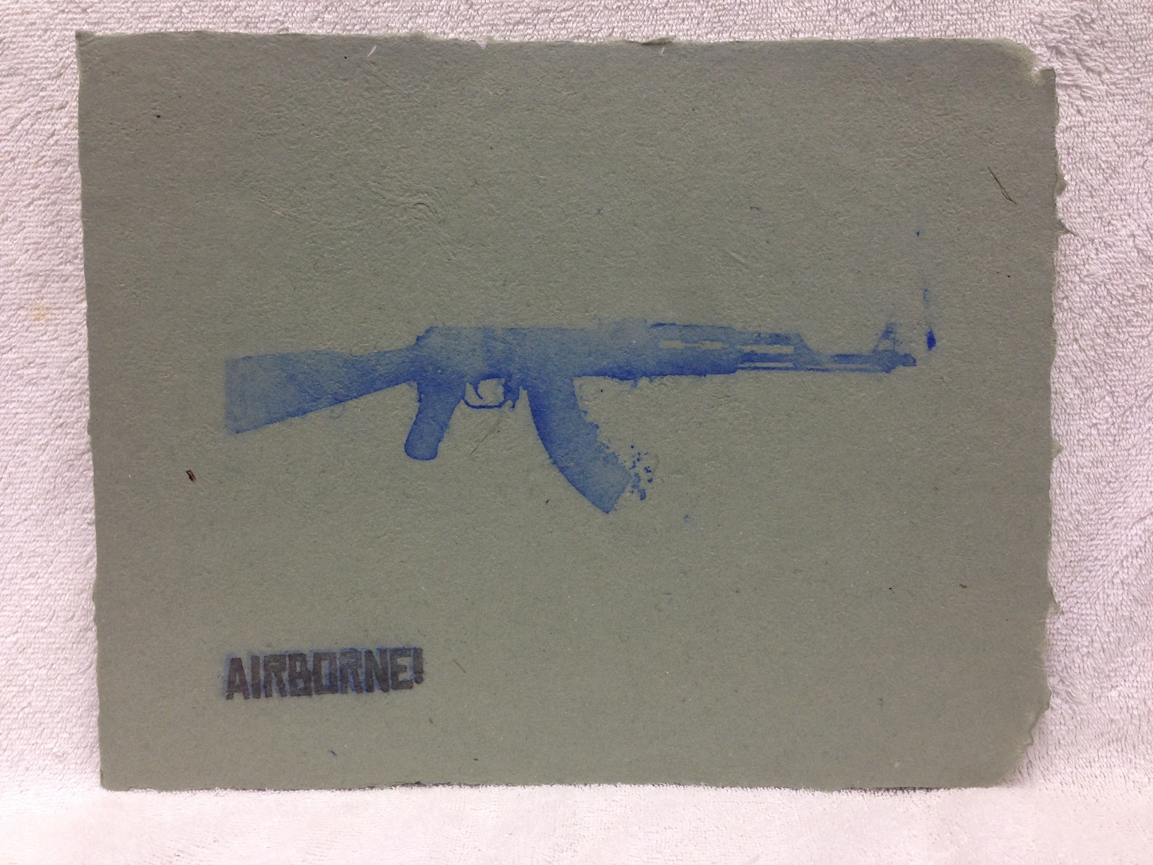 Anonymous _Untitled_ 2013 Pulp spray on handmade paper made from military uniforms IMG_0974JPG.jpg