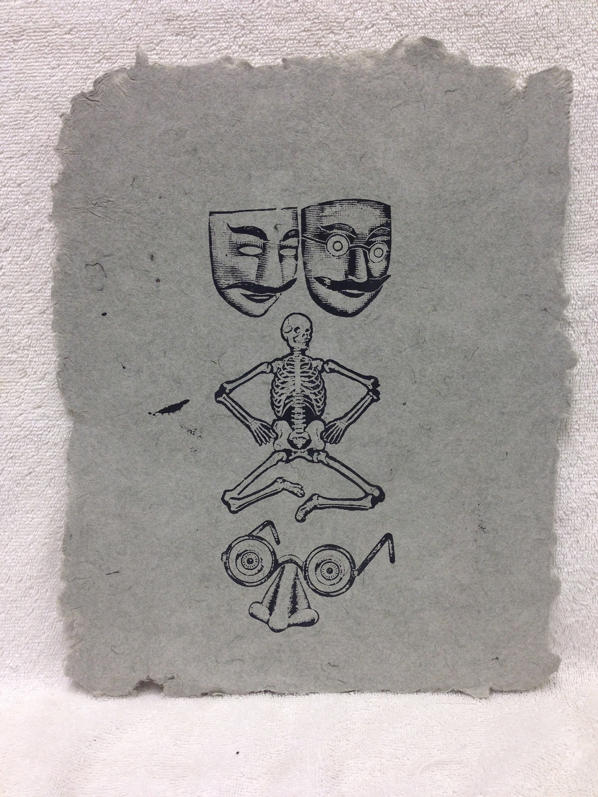 Anonymous _Untitled_ 2013 Silkscreen on handmade paper made from military uniforms Ft Belvoir IMG_0969.jpg