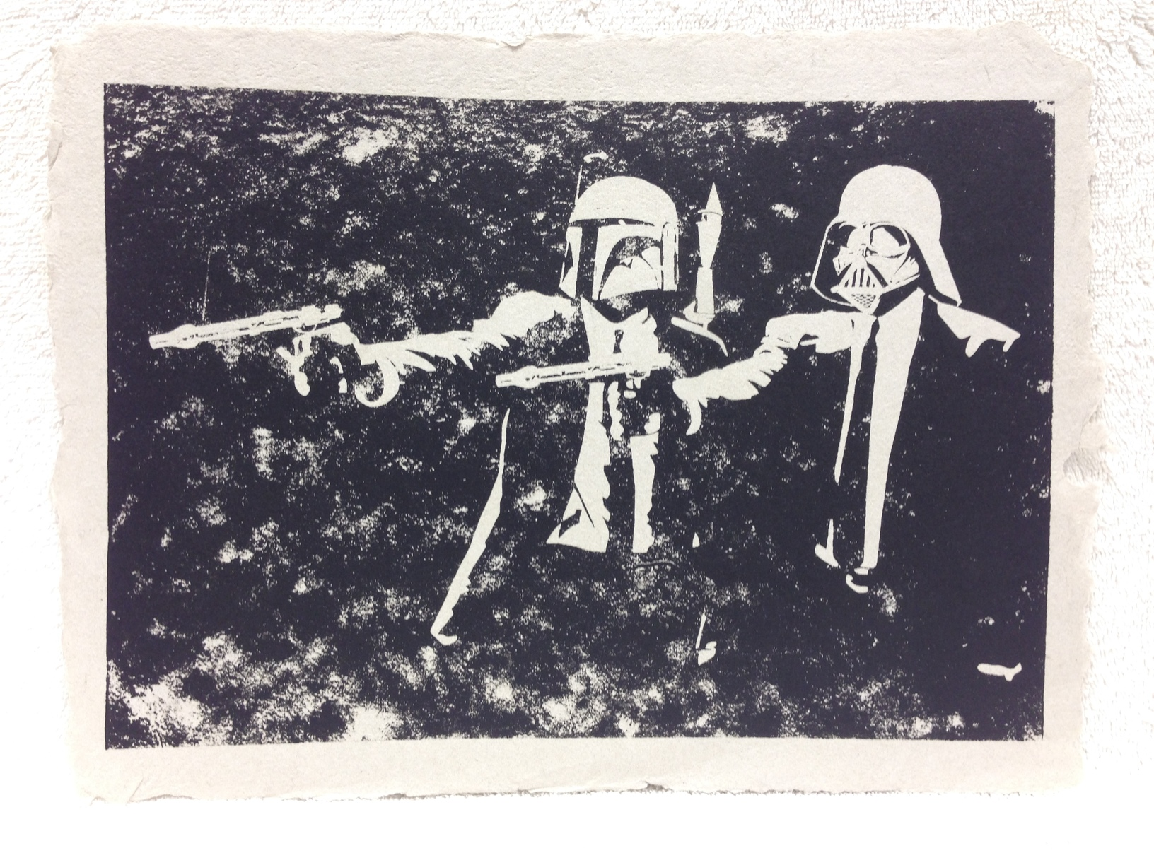 Anonymous _Untitled_ 2013 Silkscreen on handmade paper made from military unifroms Ft Belvoir Workshop IMG_0945JPG.jpg