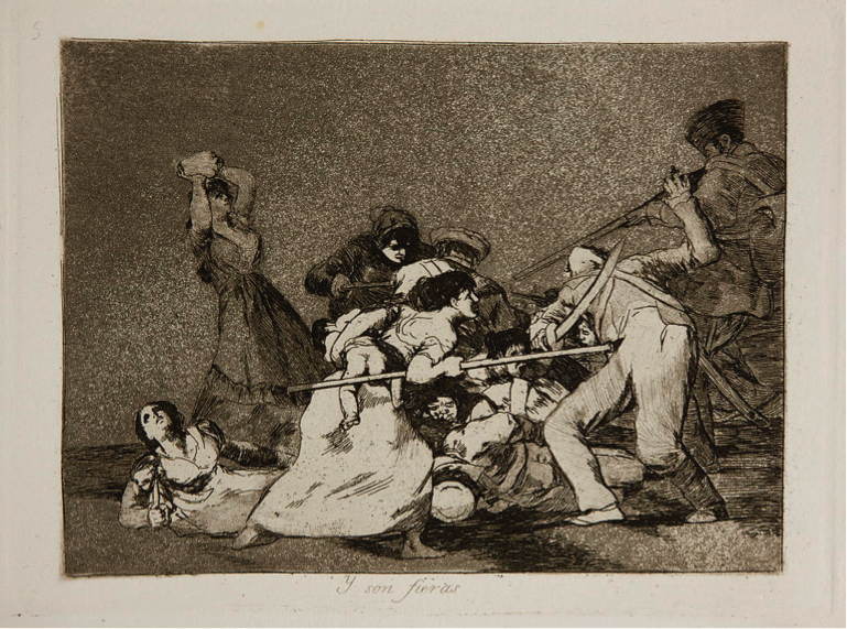 """""""And they are fierce"""" by Francisco Goya (Spain, 1810-1820)"""