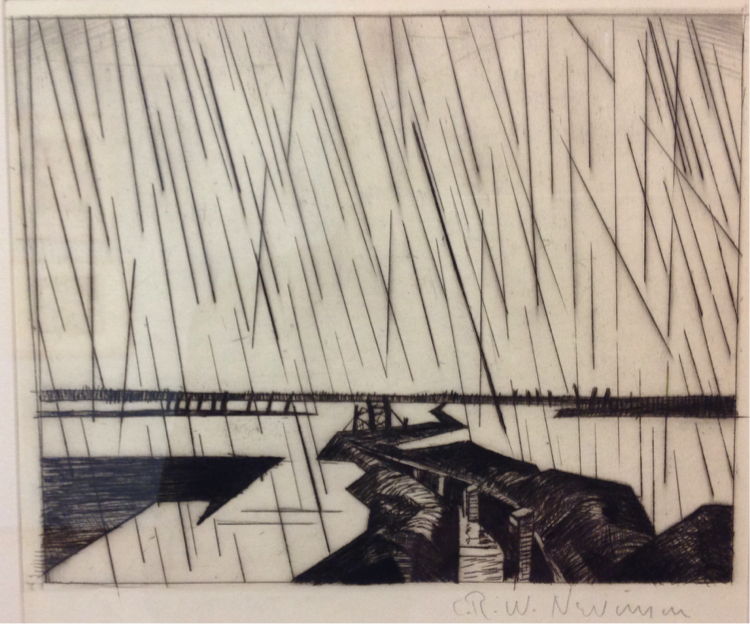 """""""Flooded Trenches in the Yser"""" by Christopher Richard Wynne Nevinson (England, 1916)"""