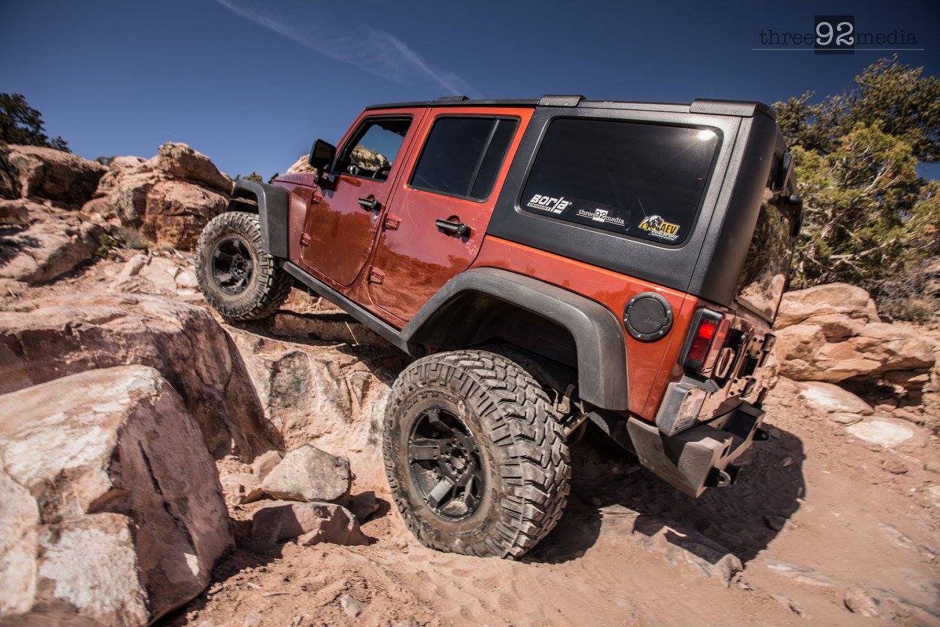 Supercharged JK on 37s in Moab