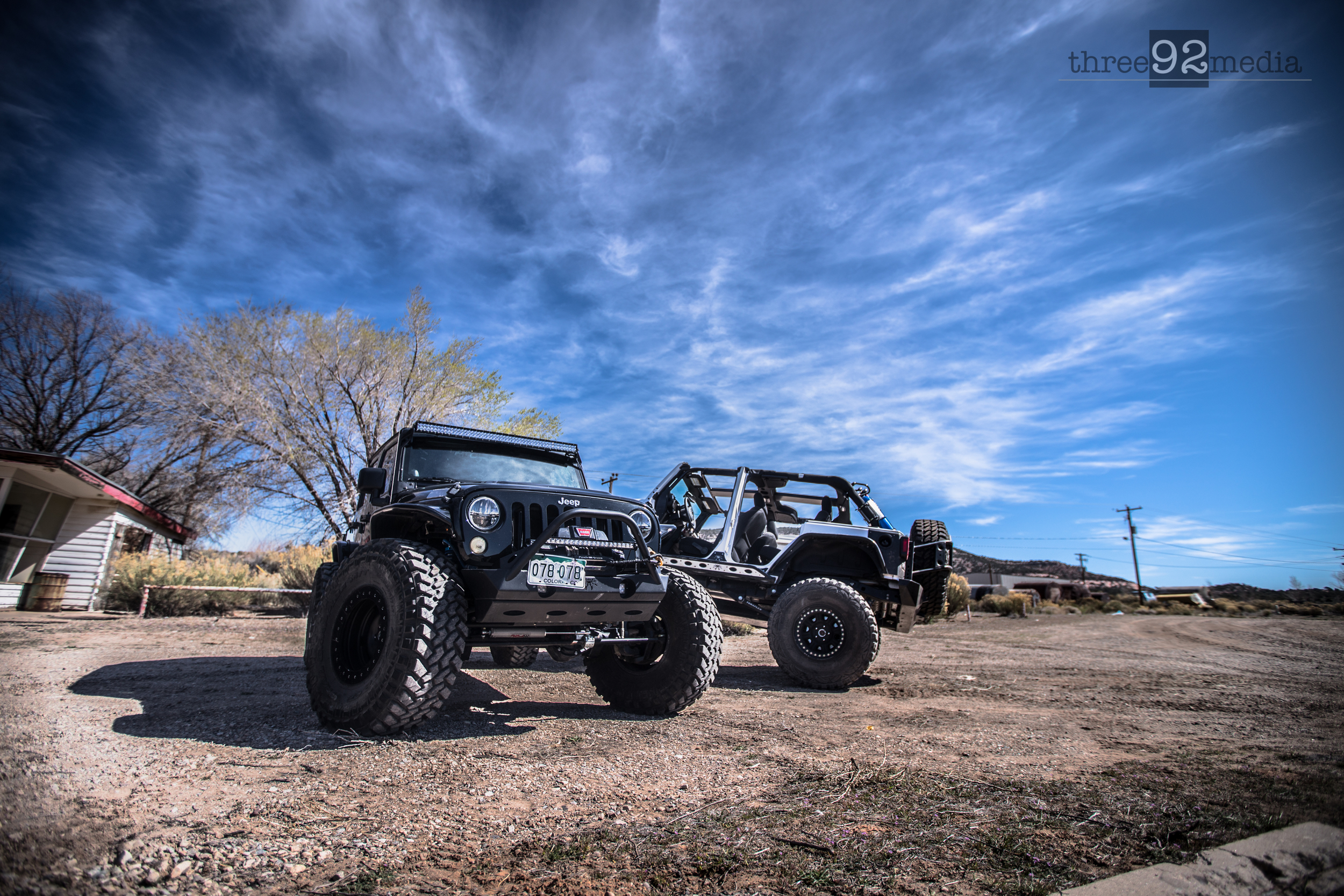 """2011 and 2014 JK Unlimited Rubicon on 40"""" Nittos"""