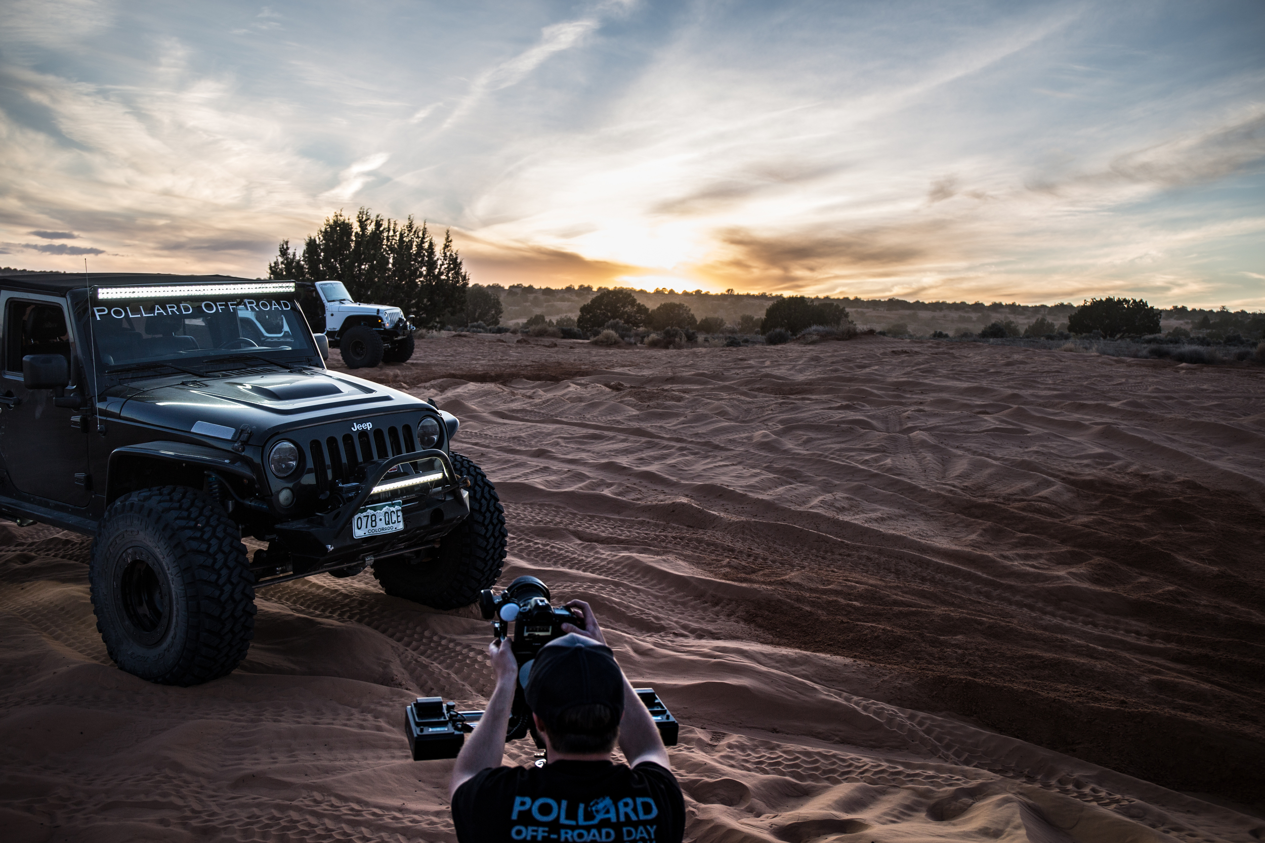 President and Executive Producer, Blake Saffel, hard at work in Moab, UT