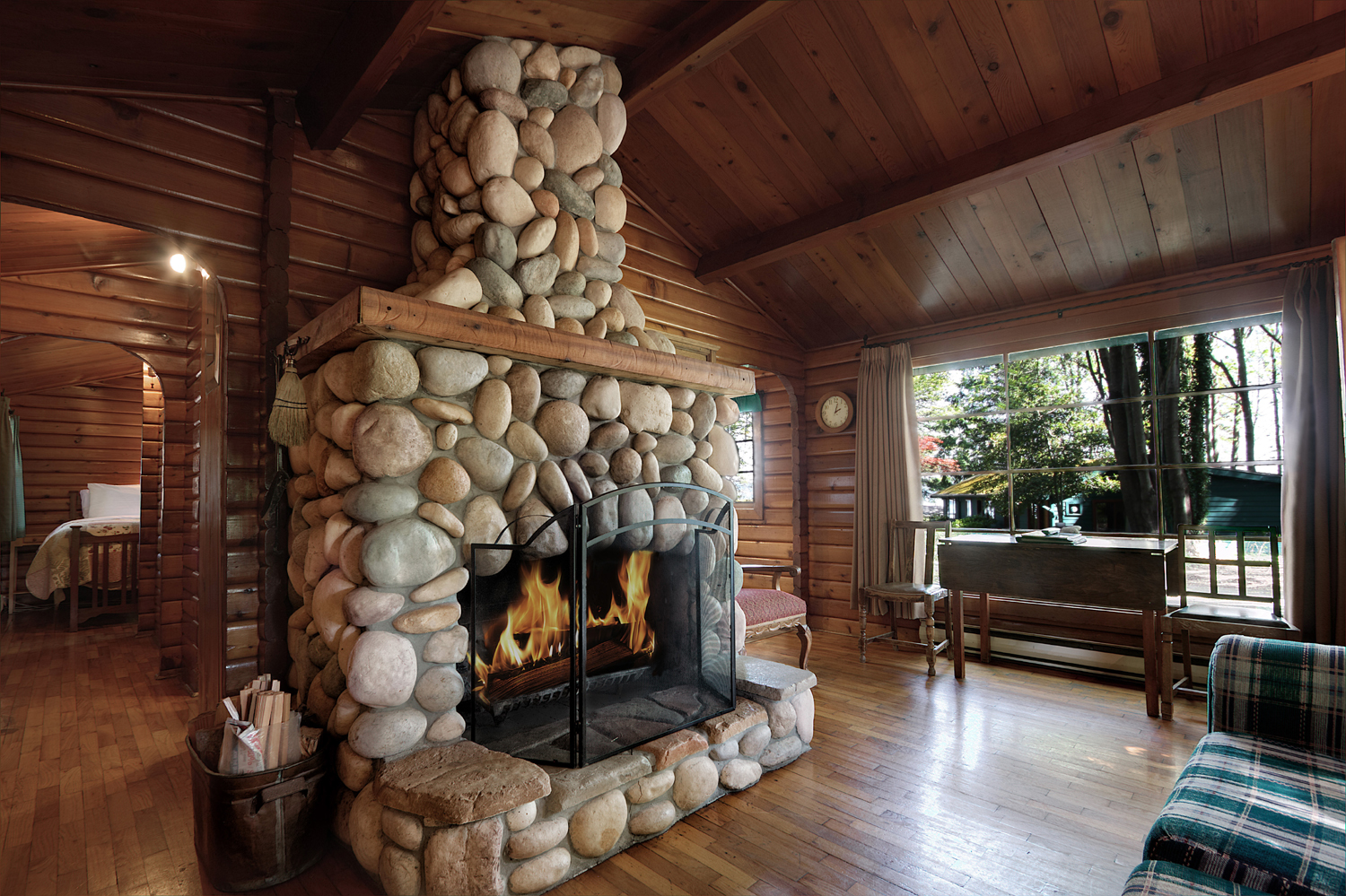 CABIN 8 - One Bedroom  Nestled in the gardens, this cabin offers a calm tranquility. From $189-$245