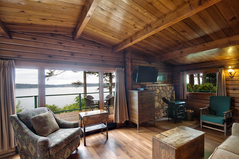 CABIN 1 - Two Bedrooms  Panoramic view of Discovery Passage & Mountains. From $279-$365