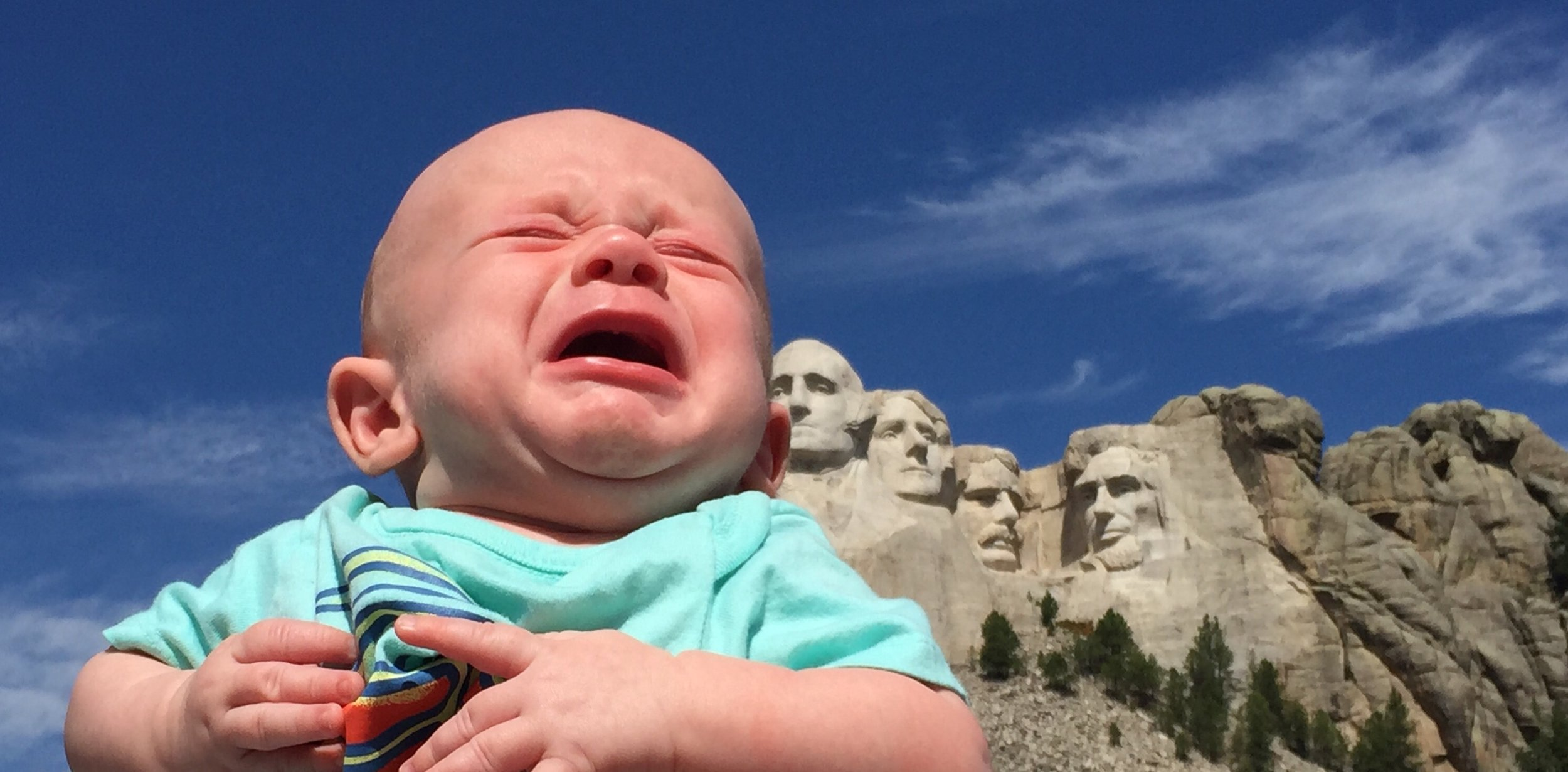 My son Tucker at his first trip to Mount Rushmore, 2015