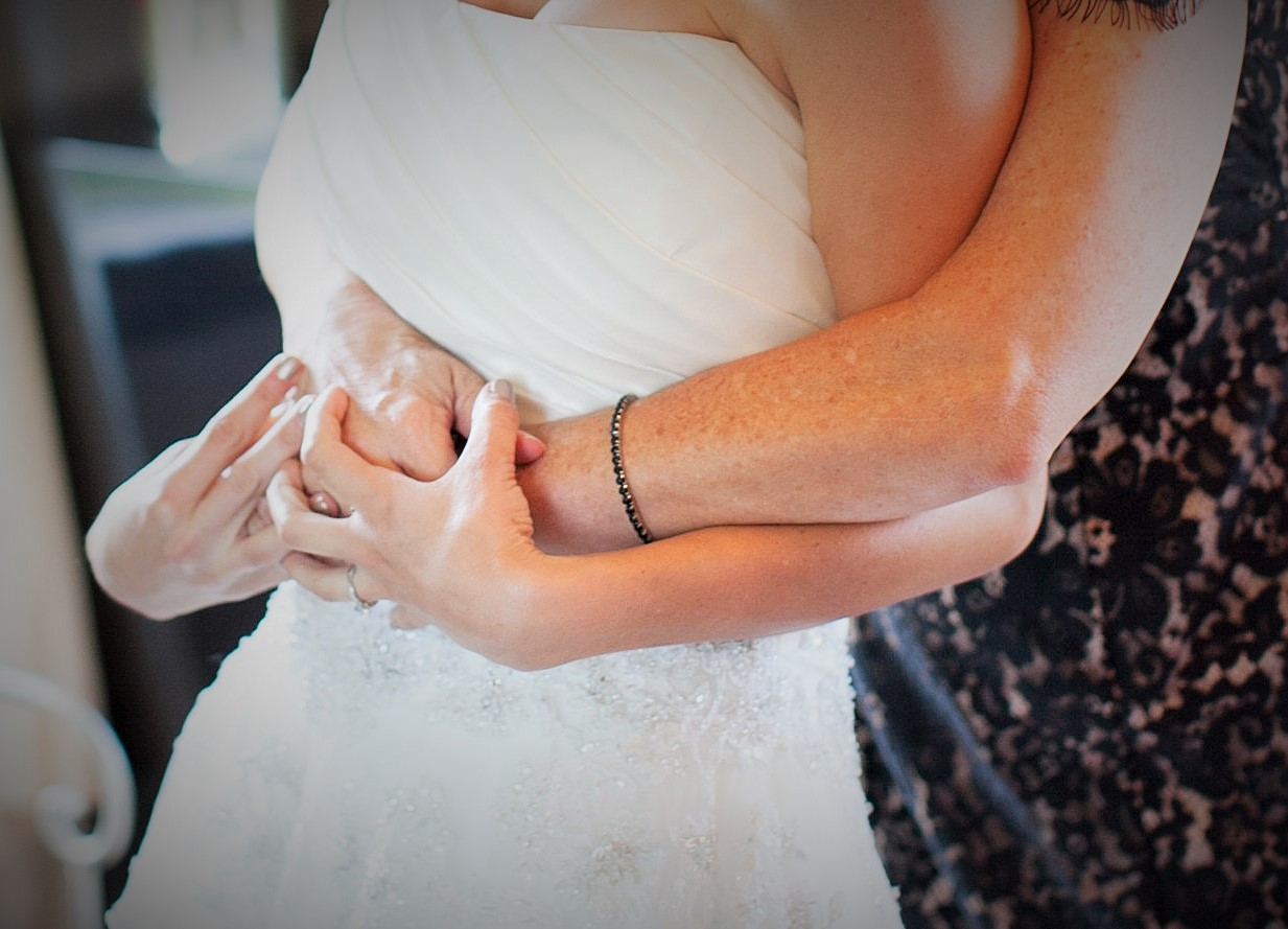 Sending my daughter off as a bride.