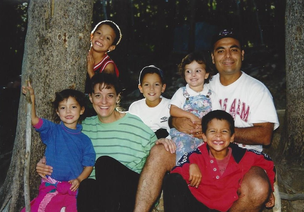 Here is my heart, many years ago, and two children short! They were coming in the next few years and would make our family complete.