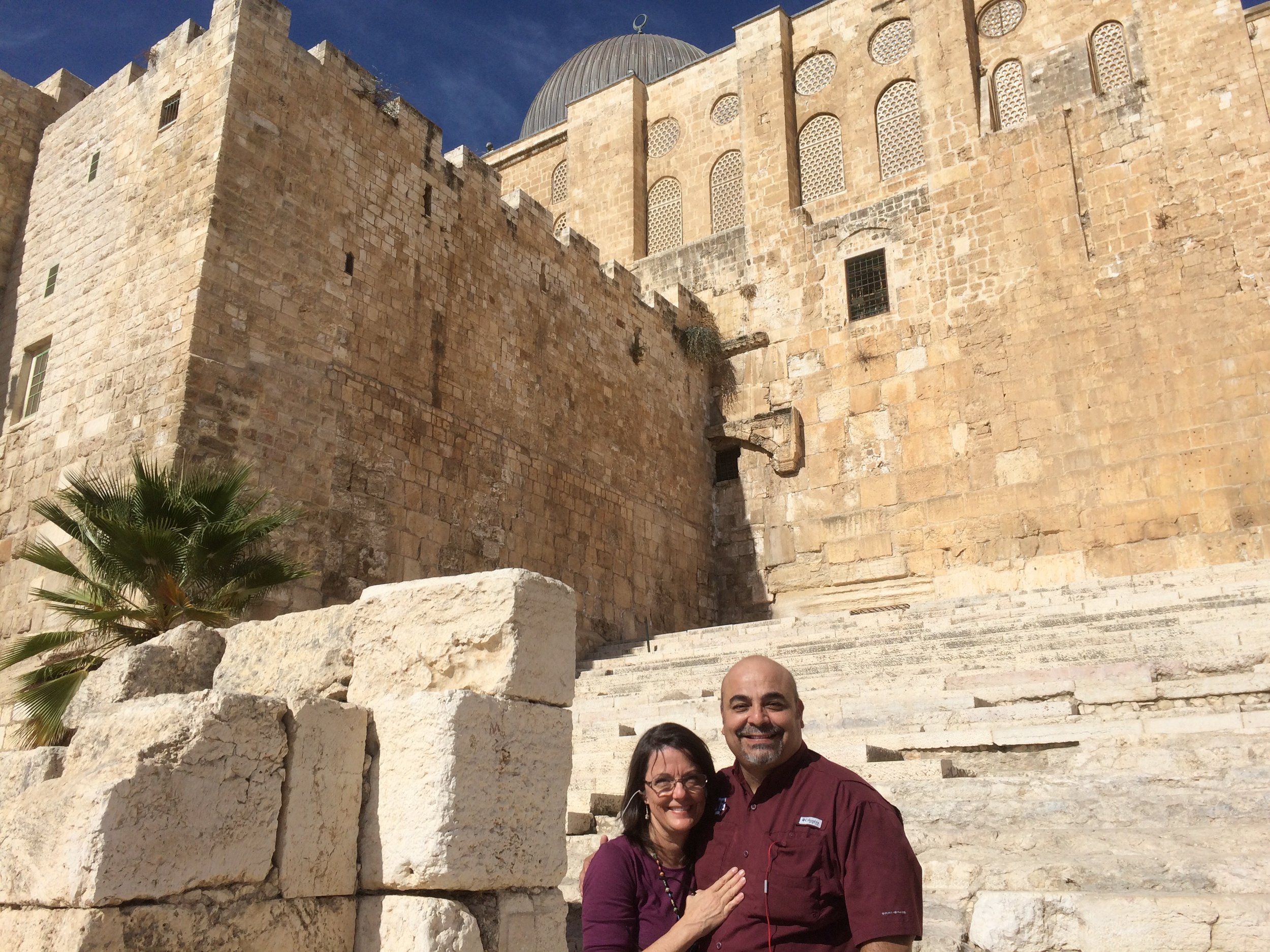 Standing in front of the entry gate of the Temple in the time of Jesus