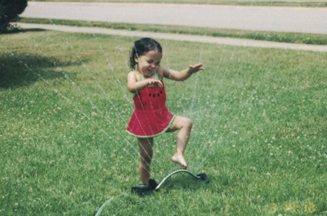 Hint: run through the sprinkler with your kids. It builds memories of your laughing face as you enjoy being their mom. They'll never forget it.