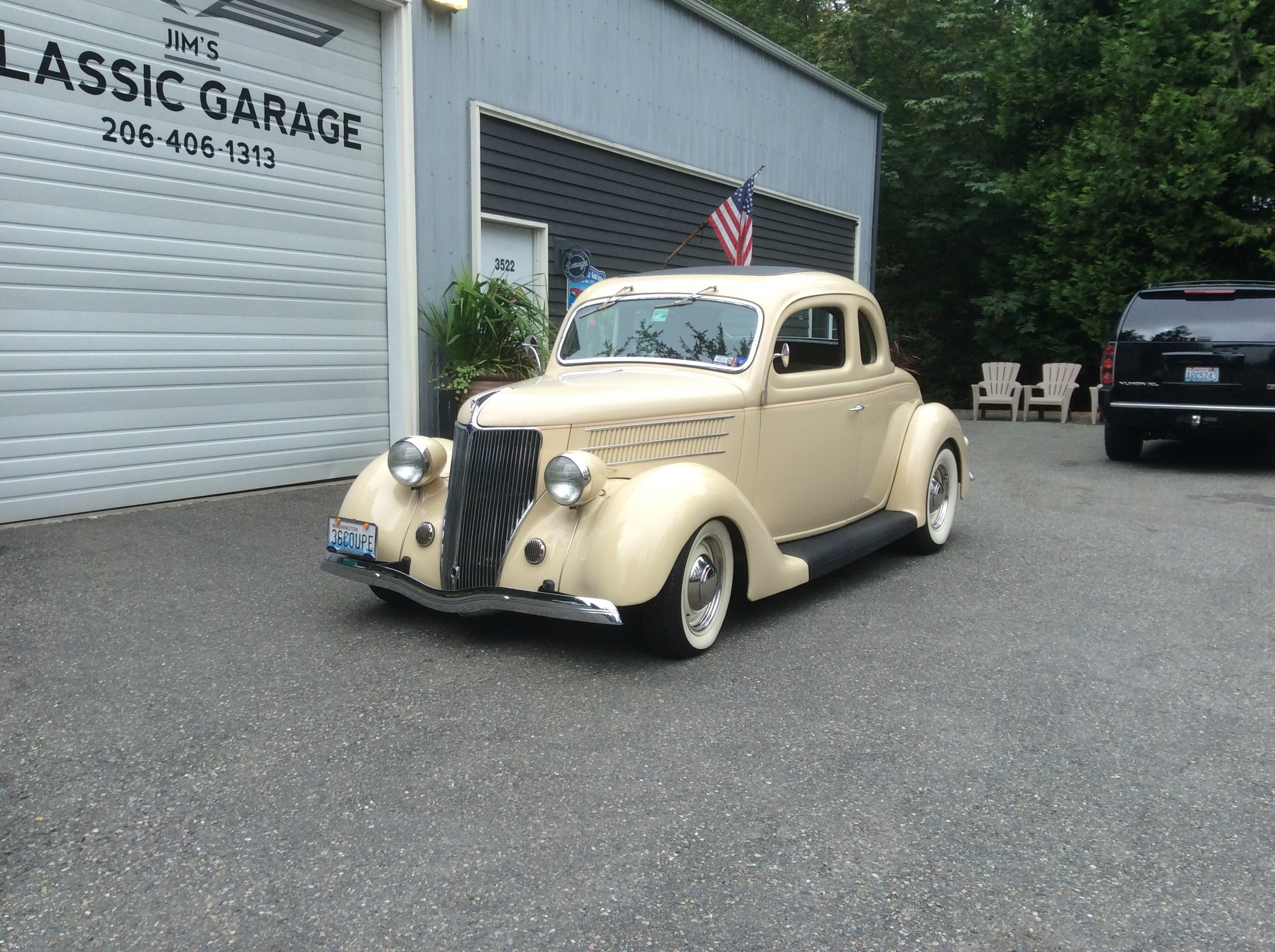 "1936 Ford Coupe<div class=""sold"">SOLD</div>"