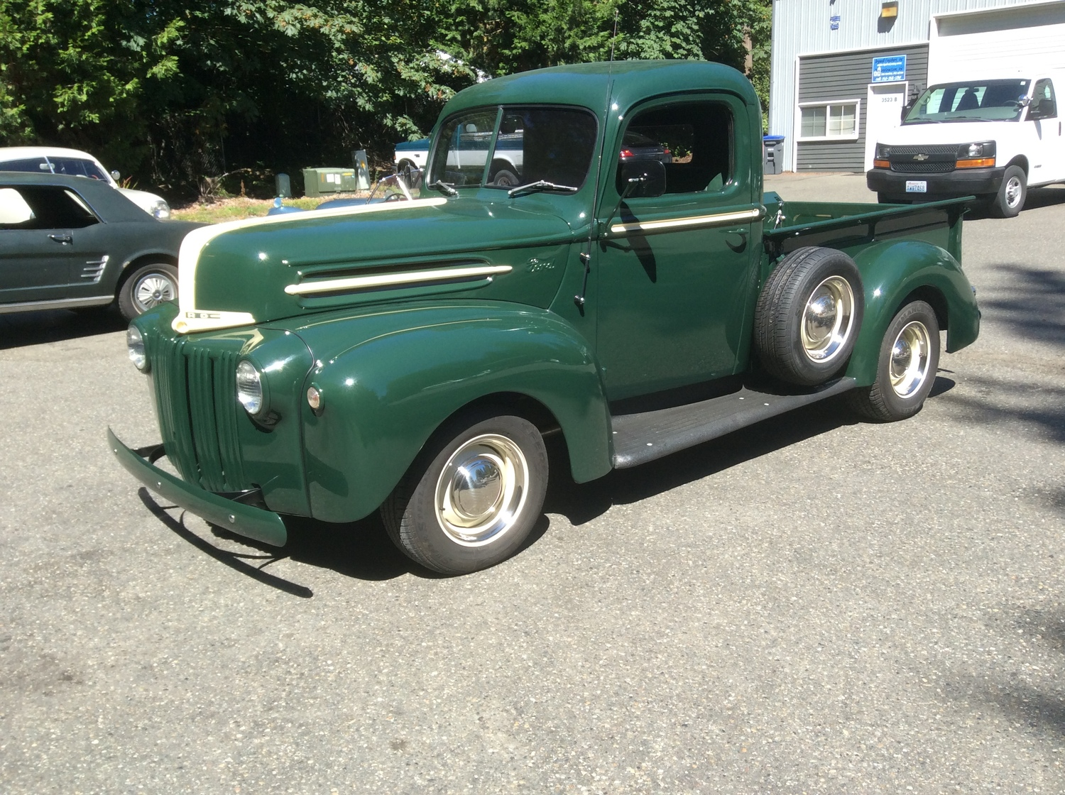 "1946 Ford 1/2 Ton Pick Up<div class=""sold"">SOLD</div>"