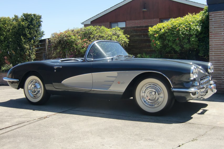 "1958 Chevy Corvette <div class=""sold"">SOLD</div>"