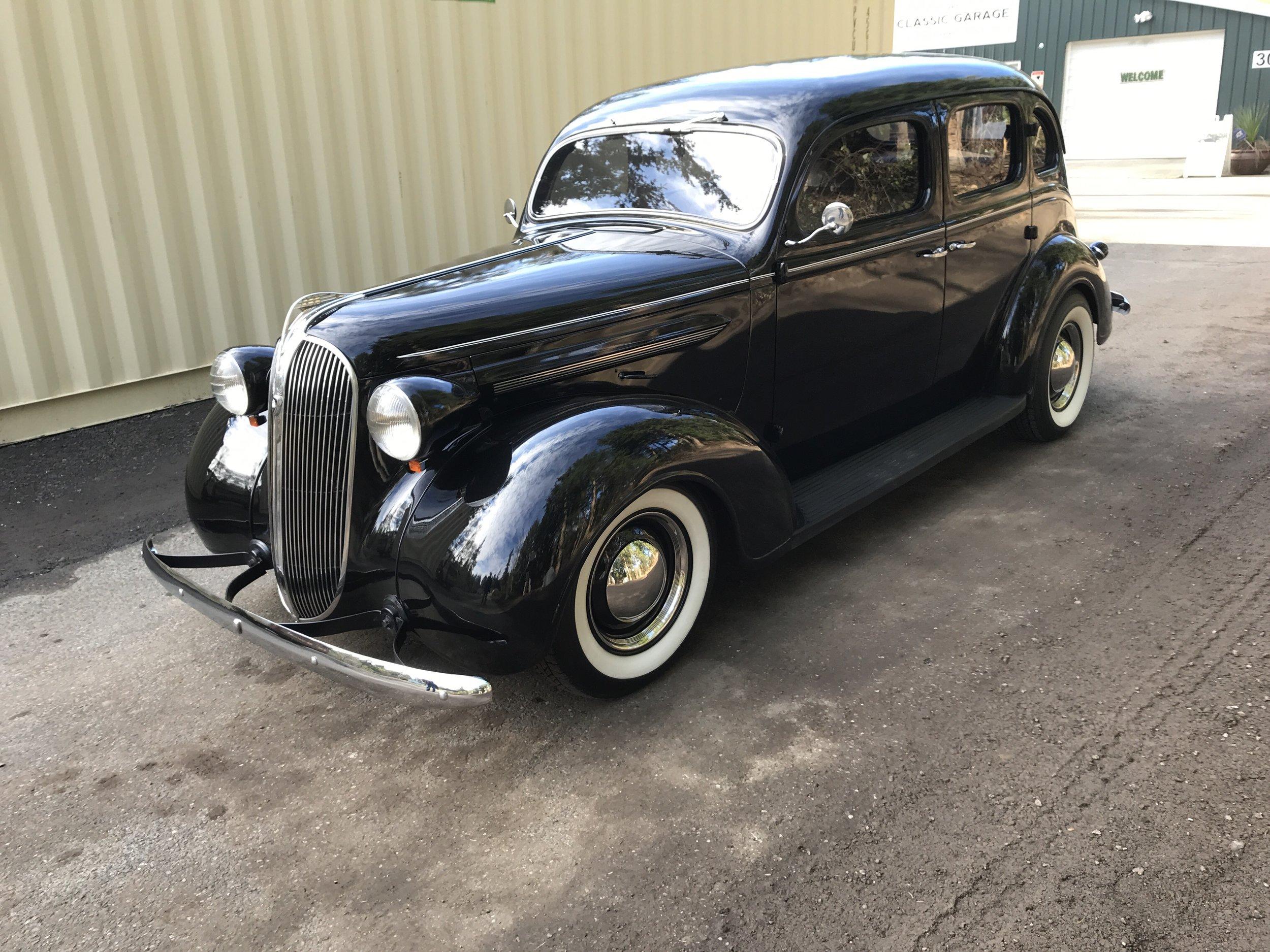 1937 Plymouth 4 dr sedan  $32,500