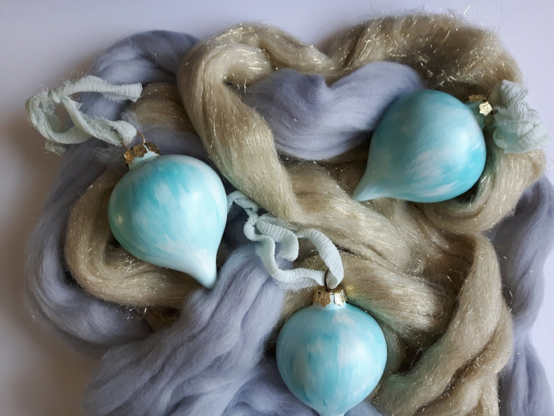Hand Painted Ceramic Ornaments - Coming November 1