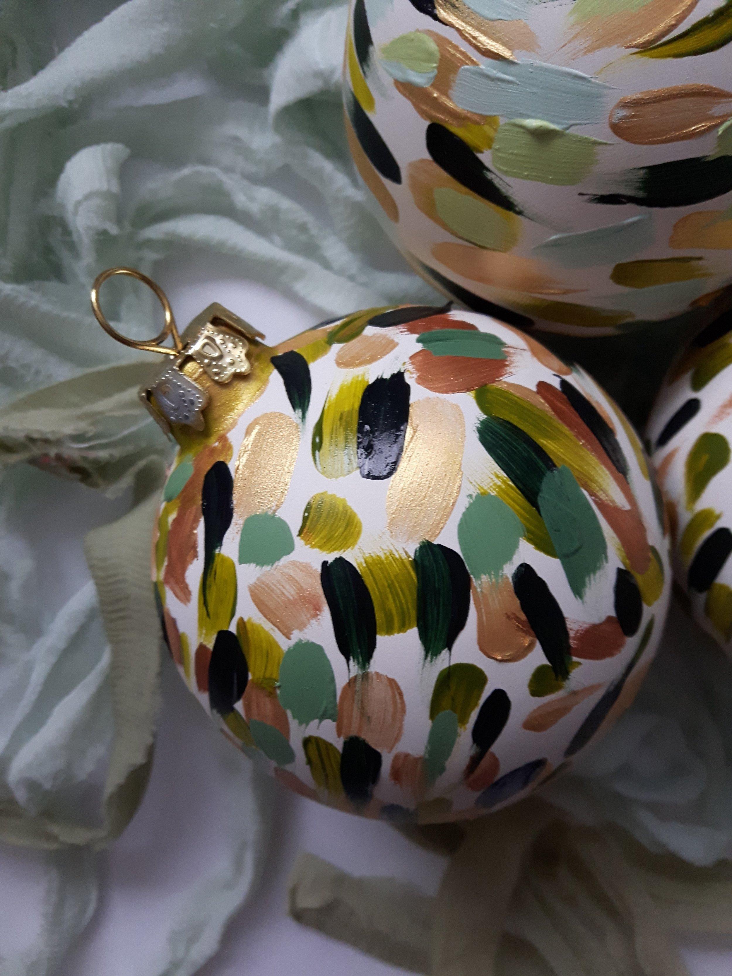 Marysia Champ Canadian Calgary YYC Artist Hand Painted Ceramic Ornaments Art