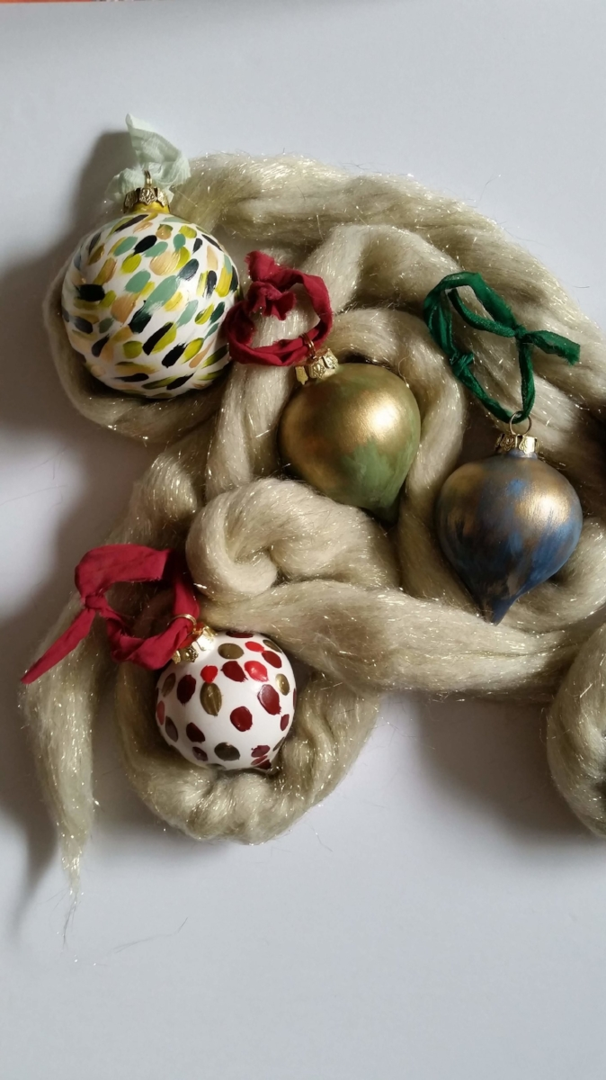 Marysia Champ Canadian Artist yyc calgary hand painted ceramic ornaments art
