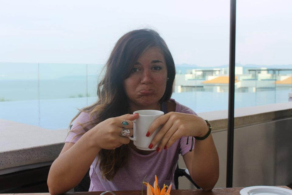 Sad to be leaving all the Mexican fresh fruit and hot coffee at my last breakfast in Mexico