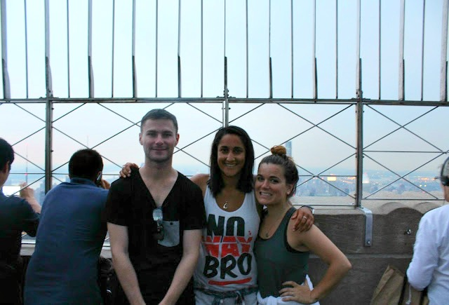 Keegan, Tash, and I at the Empire State Building, summer 2015