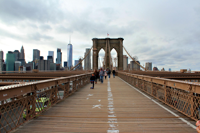 walking into Manhattan