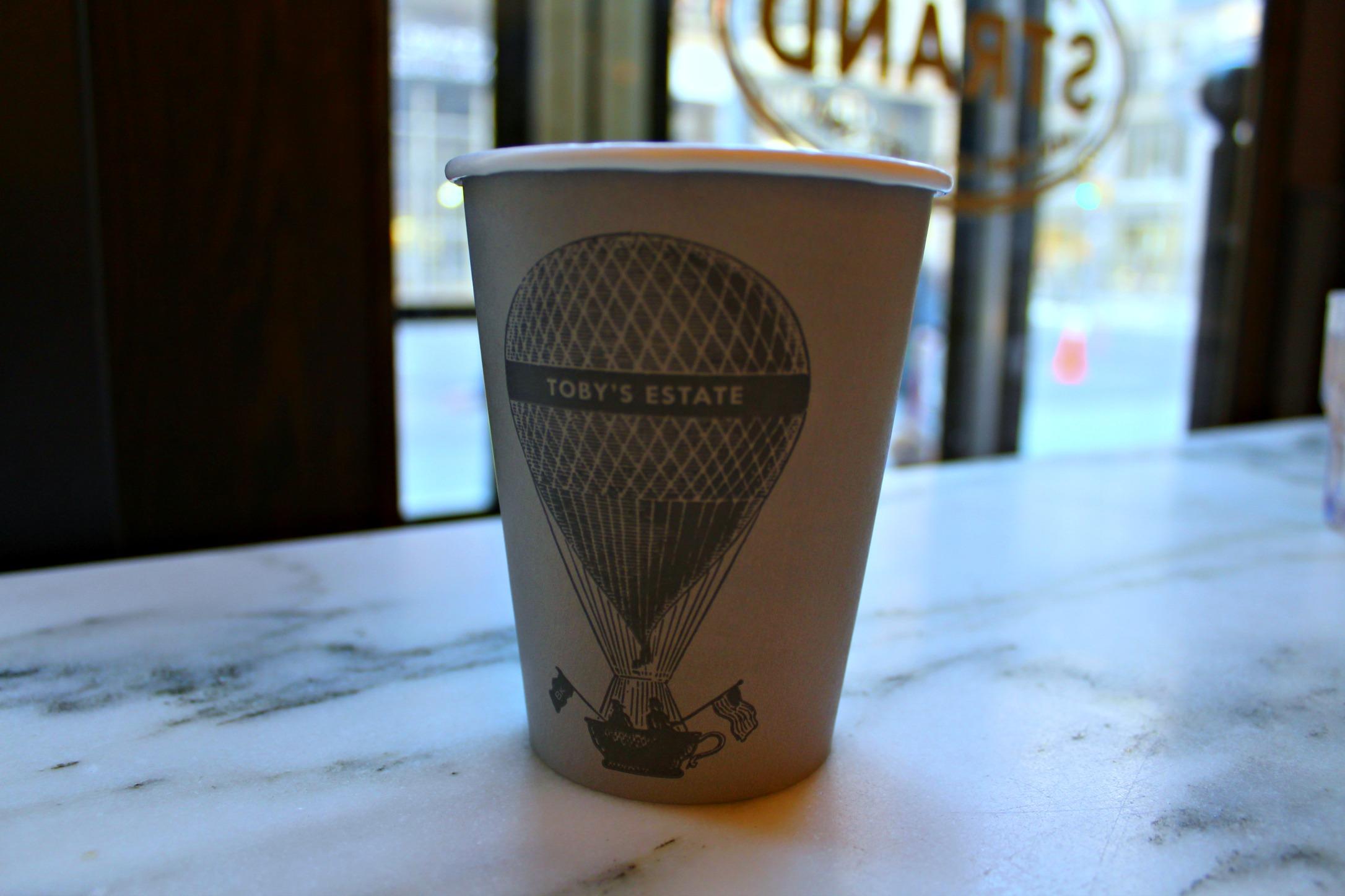 soy latte at Toby's Estate