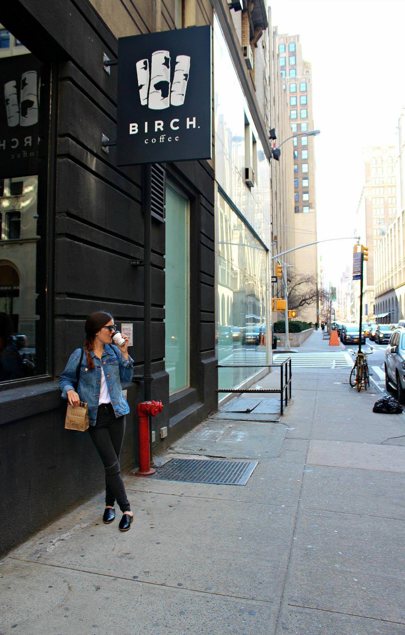 outside of Birch Coffee