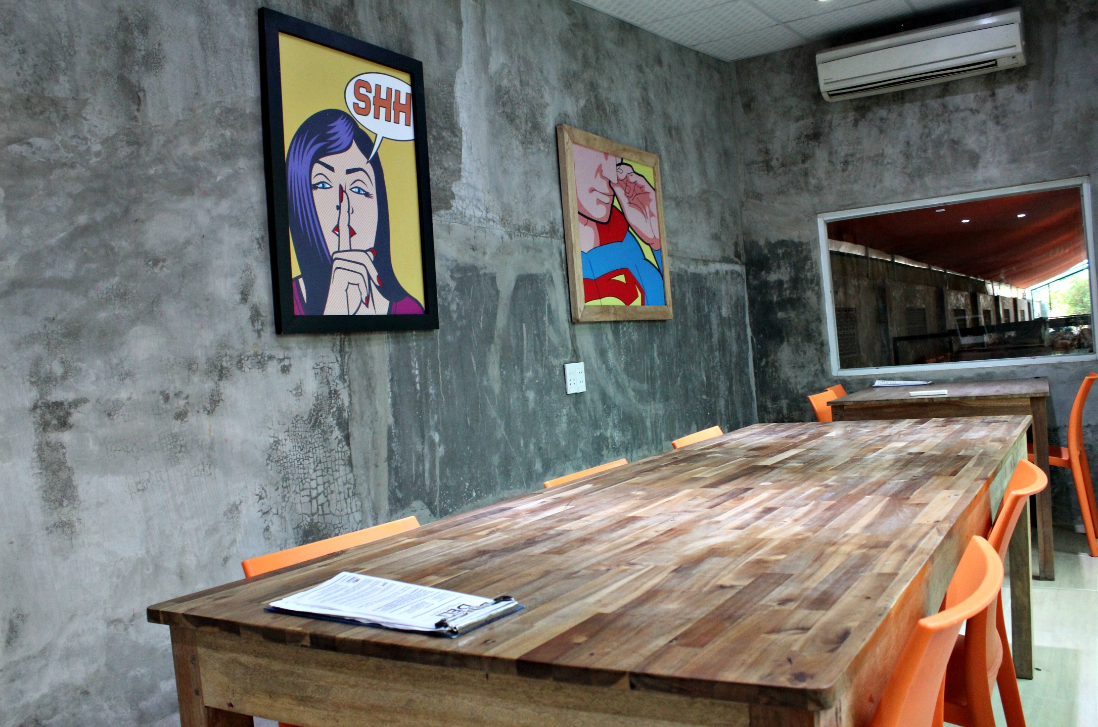 co-working space provided away from the central Dingo Deli cafe