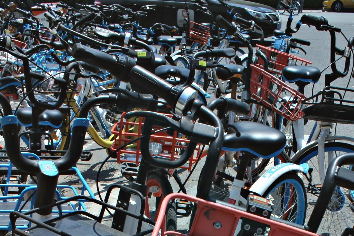 share bikes are plentiful around town