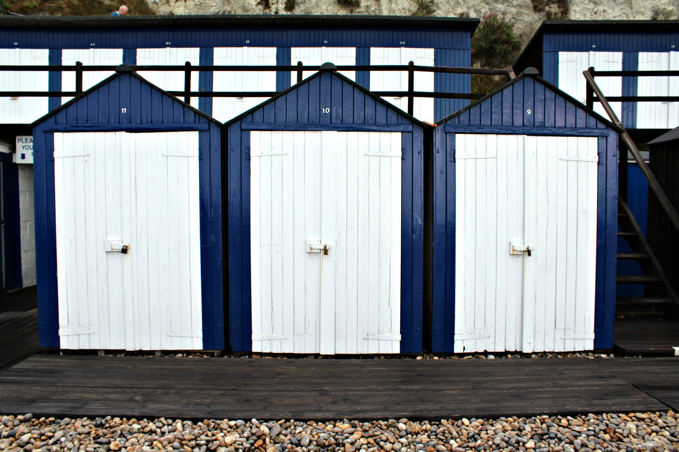 you can rent a beach hut for 10GBP for a whole day