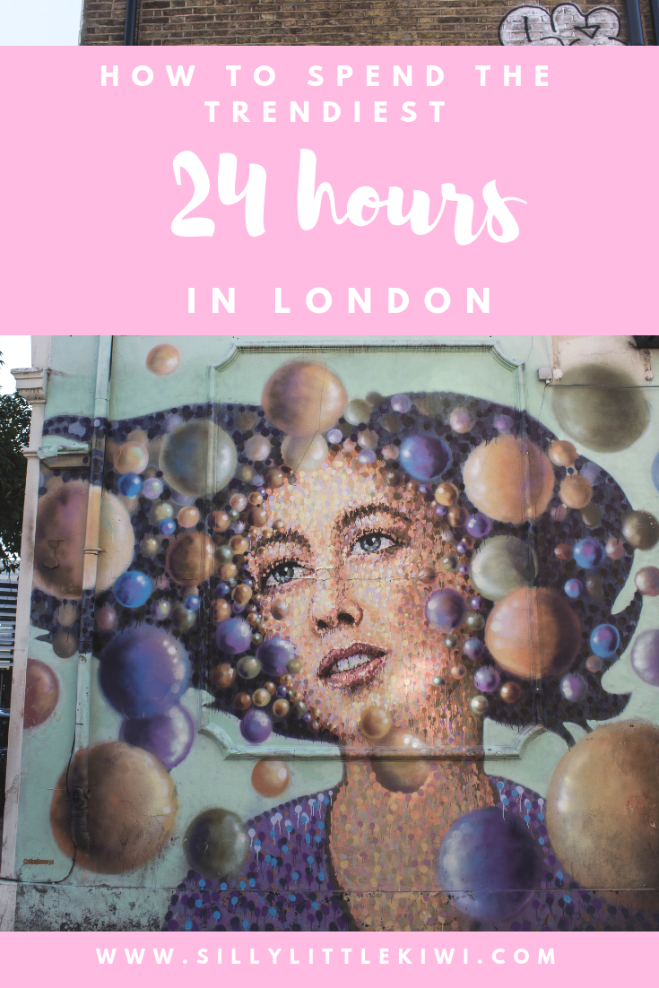 how to spend the trendiest 24 hours in London on a budget #budgettravel #london #londontravel #londonthingstodo