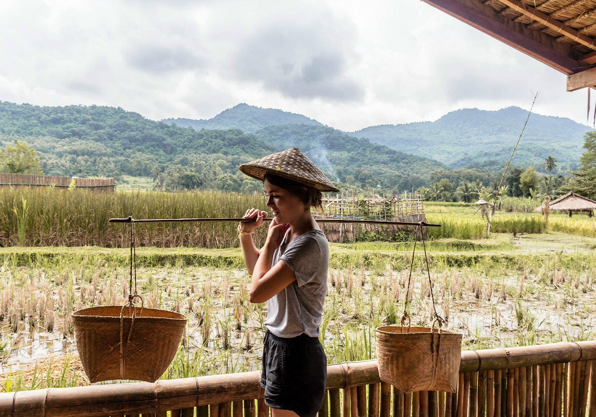 traditional Lao rice farming
