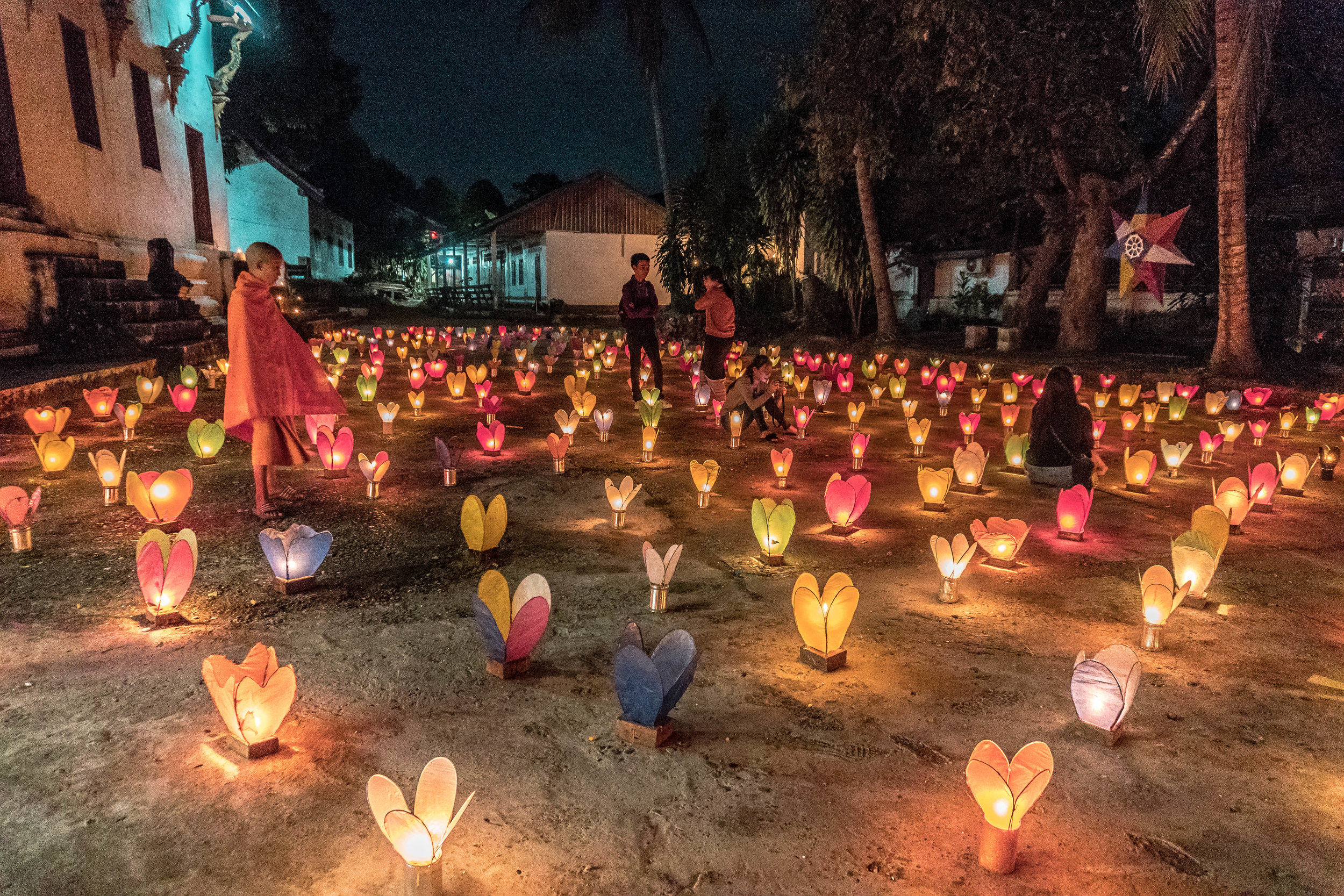 candlelight festival in luang prabang