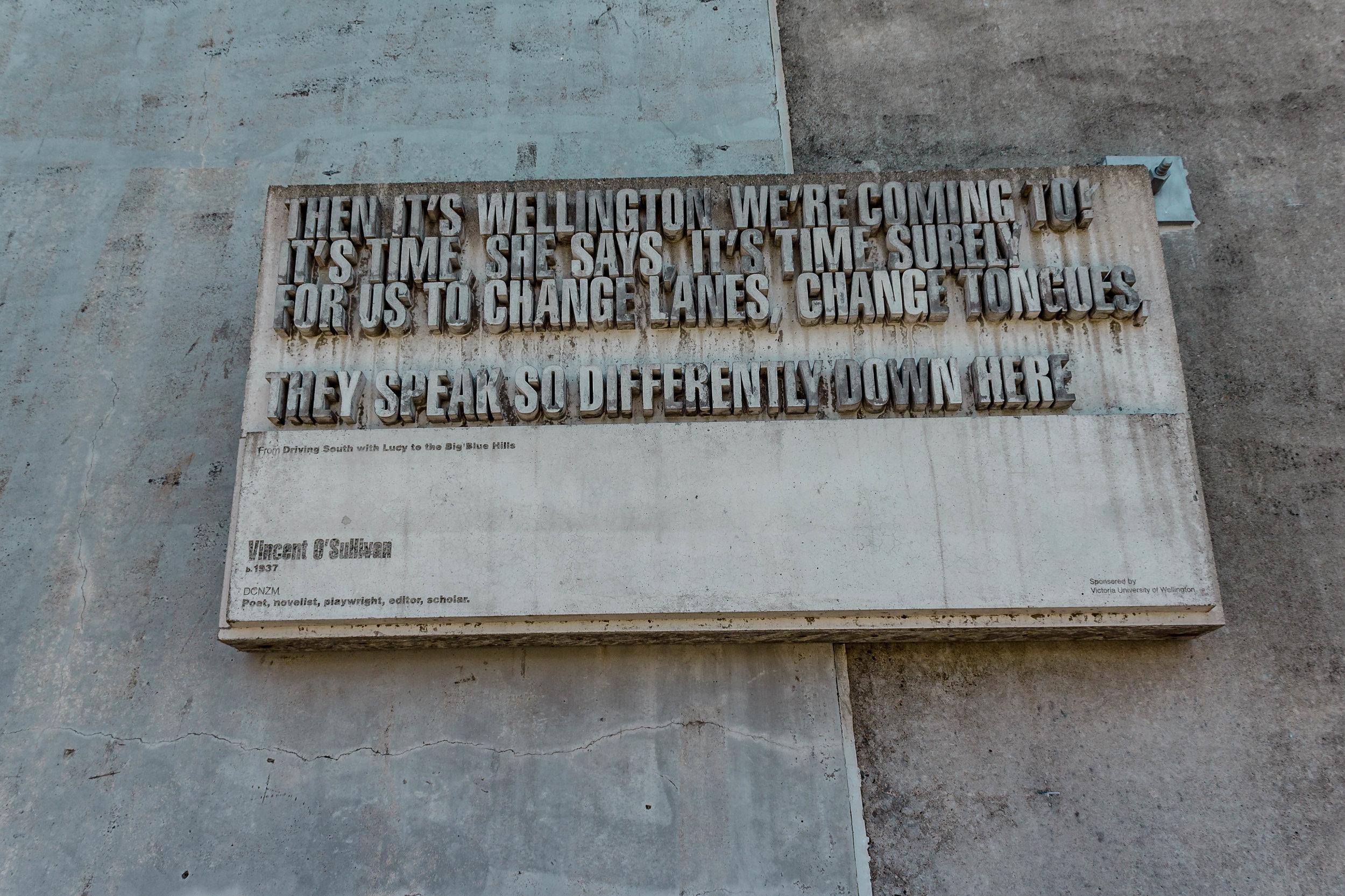 THE FAMOUS WRITER'S WALK IN WELLINGTON